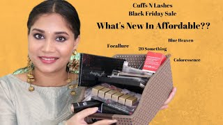 WHATS NEW IN AFFORDABLE? | CUFFSNLASHES BLACK FRIDAY SALE | AFFORDABLE MAKEUP HAUL | NIDHI KATIYAR