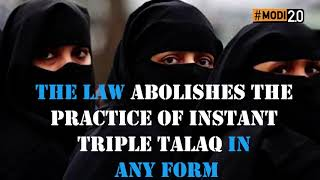 Modi Govt delivers gender-justice by passing the Triple Talaq Bill. #6MonthsOfIndiaFirst