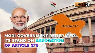 Dream of One India, One Constitution made true by Modi Govt. #6MonthsOfIndiaFirst