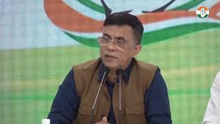 Mobile Tariff Hike: AICC Press Briefing By Pawan Khera at Congress HQ