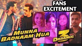 Munna Badnaam Hua Song | FANS Excitement | Salman Khan, Saiee, Sonakshi, Warina
