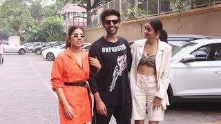 Pati Patni Aur Woh Star Cast Spotted Promoting Their Film At Juhu