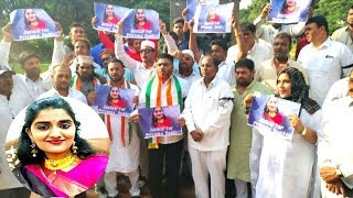Priyanka Reddy Ke Qatilo Ko Sub Ke Samne Phansi Do | Congress Leaders Protest |