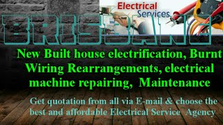 BRISBANE      Electrical Services 》Home Service by Electricians ☆ New Built House electrification ♤