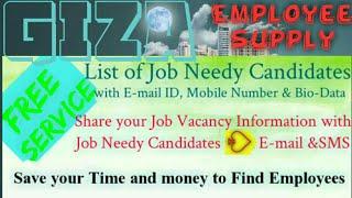 GIZA   EGYPT        Employee SUPPLY ☆ Post your Job Vacancy 》Recruitment Advertisement ◇ Job Informa