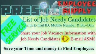 PRESTON        Employee SUPPLY ☆ Post your Job Vacancy 》Recruitment Advertisement ◇ Job Information