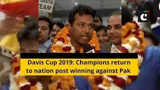 Davis Cup 2019: Champions return to nation post winning against Pak