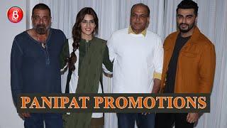 Sanjay Dutt, Kriti Sanon and Arjun Kapoor promote 'Panipat'