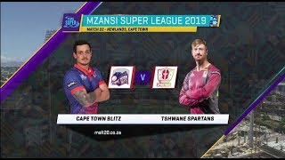 Highlights | Cape Town Blitz vs Tshwane Spartans | Match 22 | MSL 2019