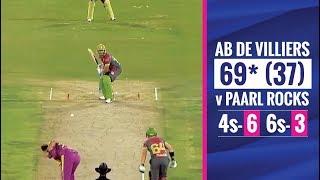 MSL 2019: Ab de Villiers' brilliant half-century vs Paarl Rocks