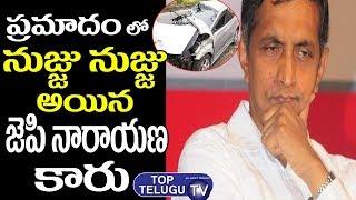 Jayaprakash Narayan New Car Issue At Jubilee Hills   Telangana News   New Traffic Act In Telangana