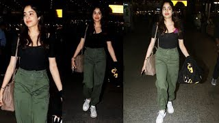Janhvi Kapoor Back In Mumbai From LA   Spotted At Mumbai Airport