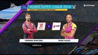 Highlights | Tshwane Spartans and Paarl Rocks| Match 19 | MSL 2019