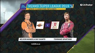 Highlights: MSL 2019, Match 23, Nelson Mandela Bay Giants vs Tshwane Spartans