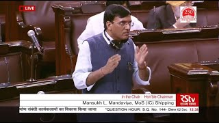 My reply in the Rajya Sabha on Development of Ship Building Activities