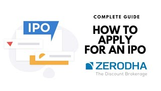 Apply for IPO of Share in less than 1 minute | Zerodha Demat Account