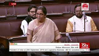 FM Smt. Nirmala Sitharaman's reply on The Taxation Laws (Amendment) Bill, 2019