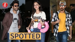 Hrithik Roshan, Ananya Panday, Kartik Aaryan make a splash in town