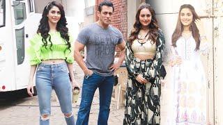 Dabangg 3 -Salman Khan, Warina Hussain, Sonakshi Sinha And Saiee Manjrekar Spotted At Mehboob Studio