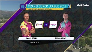 Highlights | Paarl Rocks vs Durban Heat | Match 24 | MSL 2019