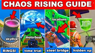 CHAOS RISING MISSION GUIDE - SKYDIVE RINGS, TIME TRIAL, STEEL BRIDGE, HIDDEN XP DROP (Challenges)