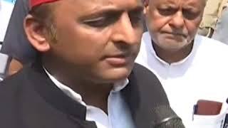 सपा अध्यक्ष अखिलेश यादव ने बीजेपी सरकार पर साधा निशाना