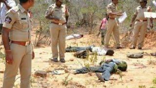 Hyderabad Encounter News // एनकाउंटर के बाद हैदराबाद पुलिस का फूलों से स्वागत