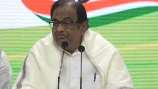 P Chidambaram addresses media on Economy Slowdown in India