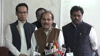 Adhir Ranjan Chowdhury and Gaurav Gogoi addresses media in Parliament House