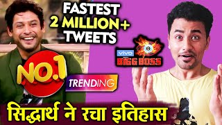 Bigg Boss 13 | Siddharth Shukla FANS Creates History | 2 Million+ Tweets In 9 Just Hrs | BB 13 Video