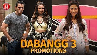 Salman Khan, Sonakshi Sinha & Saiee Manjrekar promote 'Dabangg 3'