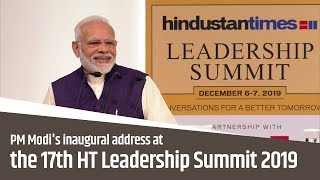 PM Modi's inaugural address at 17th HT Leadership Summit 2019 in New Delhi | PMO