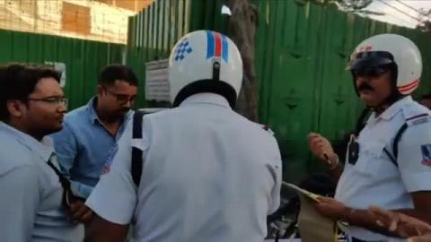 पुलिस का अतिक्रमण पर हल्ला बोल