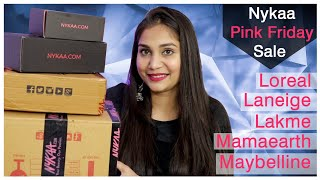 Nykaa Sale Haul | Nykaa Pink Friday Sale makeup, skincare &  haircare Haul | Nidhi Katiyar