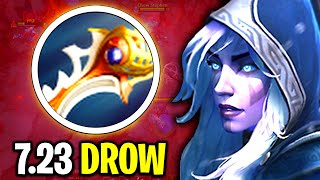 NEW DIVINE RAPIER DROW RANGER NEW META PATCH 7.23 PRO GAMEPLAY DOTA 2