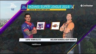 Highlights | Cape Town Blitz vs Nelson Mandela Bay Giants | Match 26 | MSL 2019