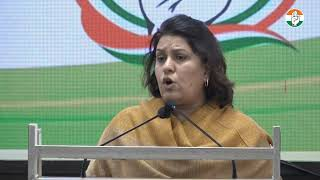 Supriya Shrinate addresses media at Congress HQ on Unnao rape case