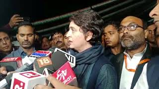 Priyanka Gandhi Vadra addresses media in Lucknow on Unnao Rape Case