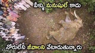 వీళ్ళు మనుషులే కాదు నోరులేని జీవాలని వేటాడుతున్నారు | Watch Gajendrudu Full Movie On Youtube