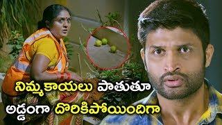 నిమ్మకాయలు పాతుతూ అడ్డంగా దొరికిపోయిందిగా | Law Telugu Movie Scenes | Mouryani