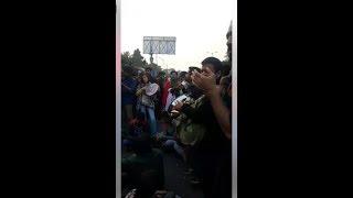 JNU फीस विवाद : रिंग रोड पर JNU छात्रों का विरोध प्रदर्शन, फोर्स तैनात