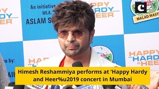 Himesh Reshammiya performs at 'Happy Hardy and Heer%u2019 concert in Mumbai