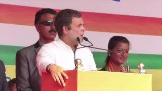 Shri Rahul Gandhi addresses a public rally in Hazaribagh, Jharkhand