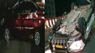 Hyderabad Night Mein Hue 2 Sadak Hadse At Shamshabad Flyover And Santosh Nagar | @ SACH NEWS |