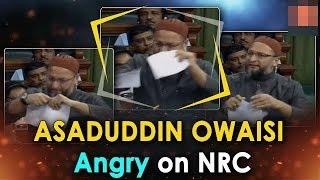 Asad Uddin Owaisi Becomes Mahatma In Parliament !! | Angry Owaisi On NRC | @ SACH NEWS |