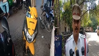 Without Number Plate Vehicles Seized By Malakpet Traffic Police | @SACH NEWS |