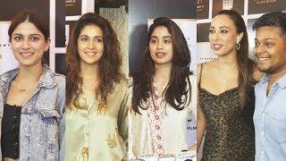 Jhanvi Kapoor And Iulia Vantur At The Premiere Of Short Film SEPIA