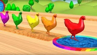 Pelajari warna warna dengan warna permen karet dan balon hewan With Farm Animals And Birds.