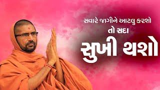 સવારે આટલું કરવાથી આખો દિવસ સારો જશે...- પૂ. સદ. સ્વામી શ્રી નિત્યસ્વરૂપદાસજી