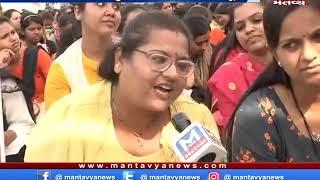 ગાંધીનગર: મહેસુલી કર્મચારીઓની રેલી, સત્યાગ્રહ છાવણી ખાતે કર્મીઓની યોજાઇ સભા